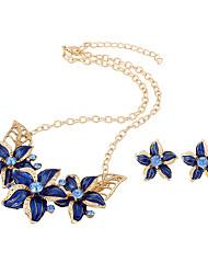 Komplet nakita luksuzni nakit imitacija Diamond Obala Crn Crvena Plava 1 Ogrlica 1 par naušnica Za Vjenčanje Party Dnevno Kauzalni 1set