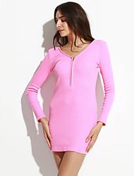 cheap -Women's Cute Casual Sheath Dress Mini V Neck