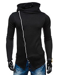 Men's Casual/Daily Simple Active Hoodie Jacket Solid Micro-elastic Cotton Long Sleeve Spring