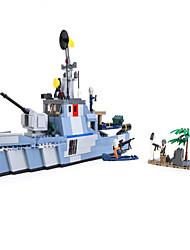 Figurines d'Action & Animaux en Peluche Blocs de Construction Pour cadeau Blocs de Construction Navire de Guerre Porte-avion 5 à 7 ans 8