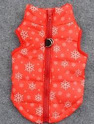 cheap -Dog Coat Vest Dog Clothes Snowflake Orange Terylene Costume For Pets Men's Women's Keep Warm Christmas