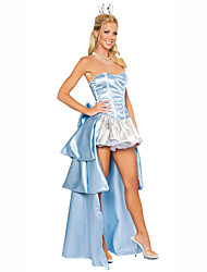 Princess Fairytale Female Halloween Christmas Carnival Children's Day New Year Oktoberfest Festival/Holiday Halloween Costumes Sky Blue