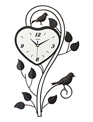 Modern/Contemporary Houses Wall Clock,Others Acrylic / Glass / Metal 35*60CM Indoor Clock