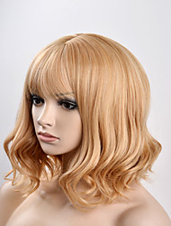 cheap -Women Synthetic Wig Capless Short Natural Wave Golden Brown Natural Wig Halloween Wig Carnival Wig Costume Wigs