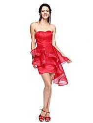Robe de Soirée Coeur Asymétrique Organza Soirée Cocktail Retour Promo Robe avec Frange(s) par TS Couture®