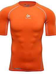 男性用 半袖 エクササイズ&フィットネス レジャースポーツ バドミントン バスケットボール ランニング コンプレッションウェア 速乾性 高通気性