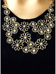 cheap -Women's Statement Necklace - Flower Adjustable, Festival / Holiday Beige Necklace For Party, Gift, Daily