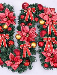 cheap -Feliz Navidad de Caa de Ratn Navidad WreathOriginal Verde de Navidad Garland Partido Decoracin De Ratn PVC Ornamento