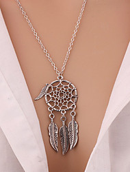 cheap -2016 Trendy Bohemian Style Wing Pendants Dream Catcher Feather Wings Shaped Pendant Necklace Charm Sweater Chain Gifts For Women