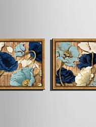 Floreale/Botanical Tele con cornice / Set con cornice Wall Art,PVC Materiale Oro Senza passepartout con cornice For Decorazioni per la
