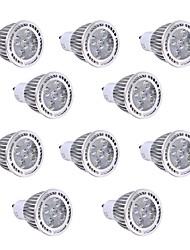 10 pezzi 5W GU10 Faretti LED 5 leds SMD 3030 Decorativo Bianco caldo Luce fredda 400-500lm 2800-3200/6000-6500