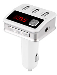 cheap -Bluetooth FM Transmitter Bluetooth Car Kit Three USB Charger Port