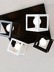 cheap -CXYlight 4-Light Flush Mount Ambient Light - Mini Style, 110-120V / 220-240V Bulb Not Included / 15-20㎡ / E26 / E27