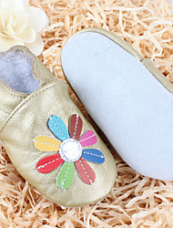 Kids' Girls' Baby Shoes Leather Comfort Flats For Casual Gold