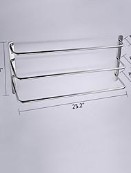 abordables -Barre porte-serviette Haute qualité Moderne Acier inoxydable 1 pièce - Bain d'hôtel Barre de 3 serviettes