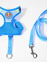 abordables -Gato Perro Bozales Correas Ajustable / Retractable Transpirable Caricatura Tejido Azul