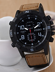 Men's Fashion Big Dial Calendar Quartz Analog Leather Band Sports Watch(Assorted Colors) Cool Watch Unique Watch