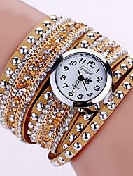 cheap -Women's Quartz Wrist Watch / Bracelet Watch Imitation Diamond / Cool / Luminous PU Band Charm / Sparkle / Vintage / Casual / Bohemian /