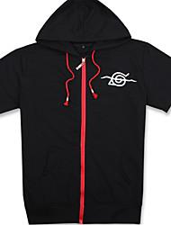 abordables -Trajes Cosplay Inspirado por Naruto Itachi Uchiha Animé Accesorios de Cosplay Camisas Negro Algodón Unisex