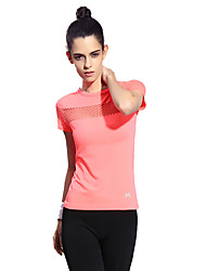 Women's Running T-Shirt Short Sleeves Quick Dry Breathable Comfortable T-shirt Top for Camping / Hiking Exercise & Fitness Running Chinlon