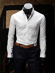 cheap -Men's Cotton Shirt - Solid Colored Modern Style