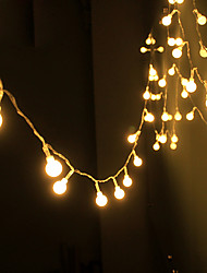 cheap -String Light Waterproof LED Strip 10m 100LED Copper Wire lamp Warm White For Outdoor Christmas decoration lights