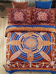 cheap -Bedtoppings 4pcs Set Queen 1 Comforter Duvet Quilt Cover/1 Flat Sheet/1 Pillowcase Fixed Design Poly Bohemian Style