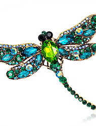 cheap -Women's Fashion Alloy/Rhinestone/Crystal Dragonfly Brooches Pin Party/Daily/Wedding Luxury Jewelry 1pc