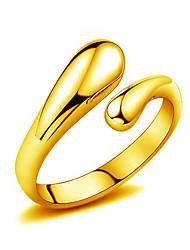 Anello Gioielli Dorato goccia Argento Dorato Gioielli Matrimonio Feste Quotidiano Casual 1 pezzo