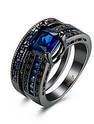 cheap -Ring AAA Cubic Zirconia Zircon Copper Titanium Steel Tungsten Steel Simulated Diamond Black Blue Jewelry Daily Casual 1pc