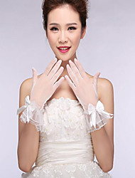cheap -Lace Cotton Nylon Wrist Length Glove Bridal Gloves Elegant Style
