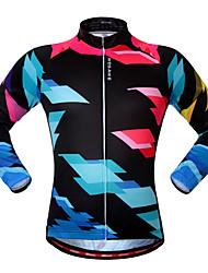 cheap -WOSAWE Cycling Jersey Unisex Bike Jersey Sweatshirt Top Bike Wear Front Zipper Breathable Comfortable Reflective Strips Leisure Sports