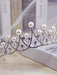 cheap -Imitation Pearl Rhinestone Alloy Tiaras 1 Wedding Special Occasion Casual Headpiece