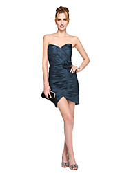 Sheath / Column Sweetheart Short / Mini Taffeta Cocktail Party Prom Dress with Flower(s) by TS Couture®