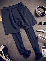 Da uomo A vita bassa Semplice Attivo Media elasticità Attivo Chino Pantaloni della tuta Pantaloni,Skinny Tinta unita