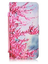 Недорогие -Для Кошелек / Бумажник для карт / со стендом / Флип Кейс для Задняя крышка Кейс для Цветы Твердый Искусственная кожа для AppleiPhone 7