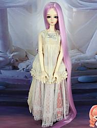 Mulher Perucas sintéticas Liso Rosa boneca peruca Perucas para Fantasia