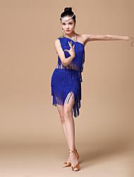 abordables -Baile Latino Accesorios Mujer Rendimiento Poliéster Lentejuela Borla Top Falda