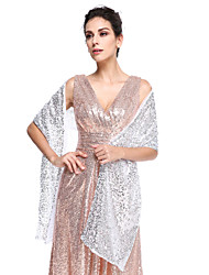 cheap -Sequined Wedding Party Evening Women's Wrap With Sequin Shawls