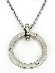 моды из нержавеющей стали 316L круг CZ алмазов инкрустированные кулон ожерелье