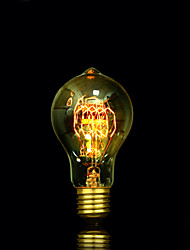 cheap -1pc 40W E27 E26/E27 E26 A60(A19) Warm White 2300 K Incandescent Vintage Edison Light Bulb AC85-265 AC 220V AC 85-265V V