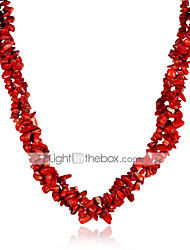 cheap -Women's Flower Crystal Crystal Strands Necklace  -  Fashion Rainbow Red Necklace For Party Casual