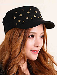 Men Women Navy Baseball Cap Rivets Cotton Student Flat - top Sun Visor Hat