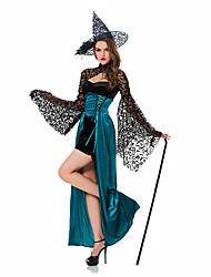 Wizard/Witch Female Halloween Christmas Carnival Children's Day New Year Oktoberfest Festival/Holiday Halloween Costumes Solid Lace