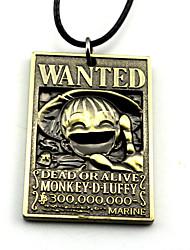 economico -Altri accessori Ispirato da One Piece Monkey D. Luffy Anime Accessori Cosplay Collane Oro / Argento Lega