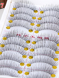 cheap -Eyelashes lash Full Strip Lashes Eyelash Natural Long The End Is Longer Extended Lifted lashes Volumized Handmade Fiber Transparent Band