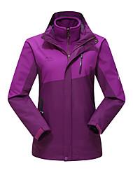 Women's 3-in-1 Jackets Waterproof Thermal / Warm Windproof Windbreaker Softshell Jacket for Skiing Camping / Hiking Fishing Backcountry
