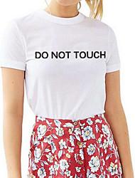 billige -Dame - Geometrisk Bomuld I-byen-tøj T-shirt