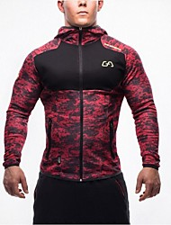 Men's Running T-Shirt Long Sleeves Thermal / Warm Breathable Stretch Softness Sweatshirt Top for Camping / Hiking Climbing Exercise &