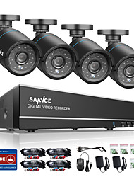 cheap -SANNCE® 8CH 4 in 1 720P HDMI AHD CCTV DVR 4PCS 1.0 MP IR Outdoor Security Camera Surveillance System